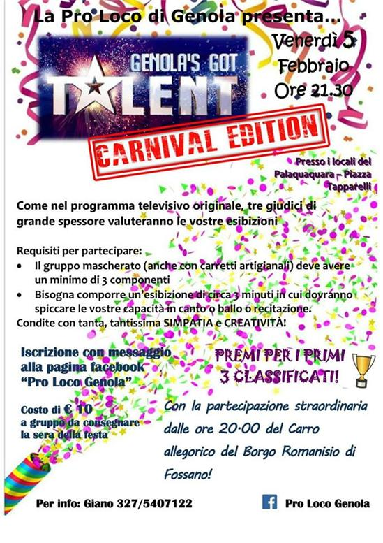 GENOLA'S GOT TALENT